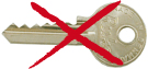 Serie 500 nøgle med 5 stifter - må ikke benyttes til yderdøre