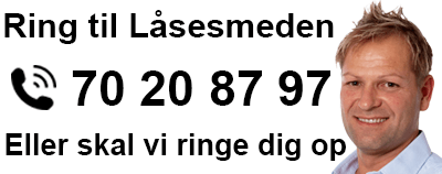 Ring 70 20 87 97 for at kontakte låsesmeden