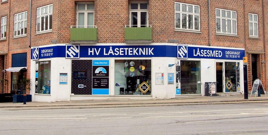Facaden af HV Låseteknik på Valby Langgade 192
