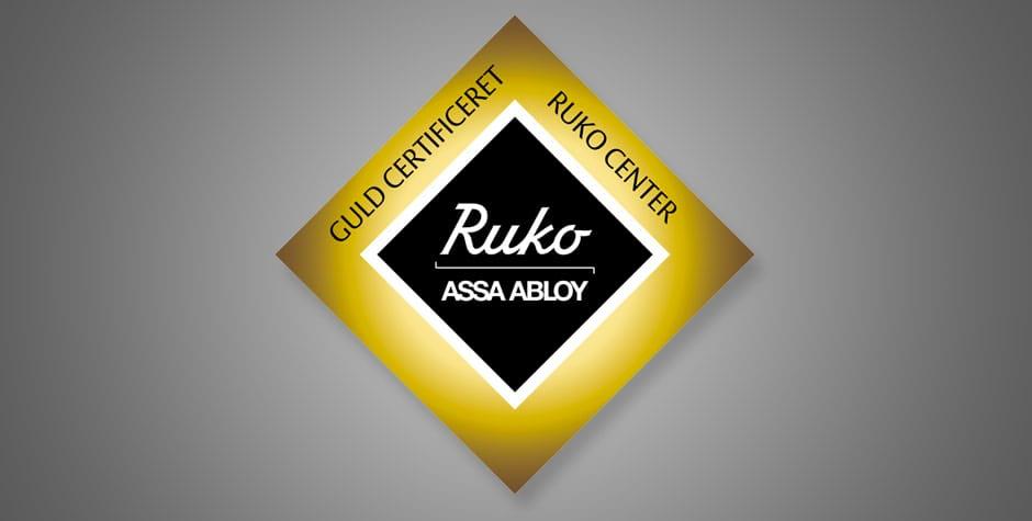 RUKO Guld certificeret - blandt mange andre certificeringer